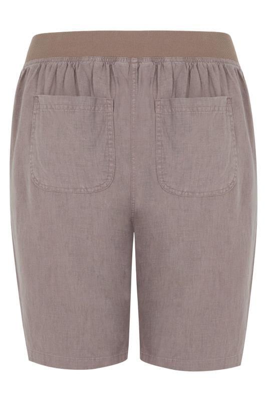 Latte Linen Mix Shorts