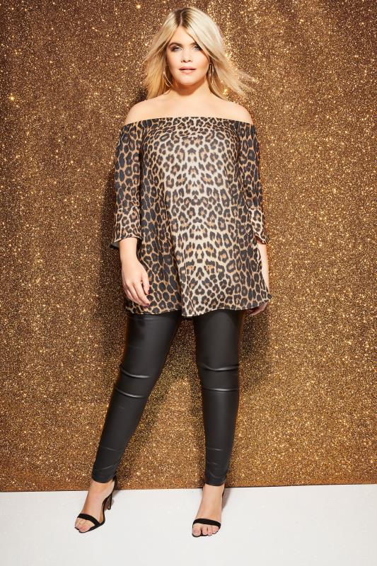 Leopard Print Bardot Top