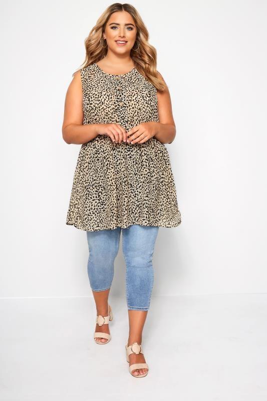 Leopard Print Button Front Tunic