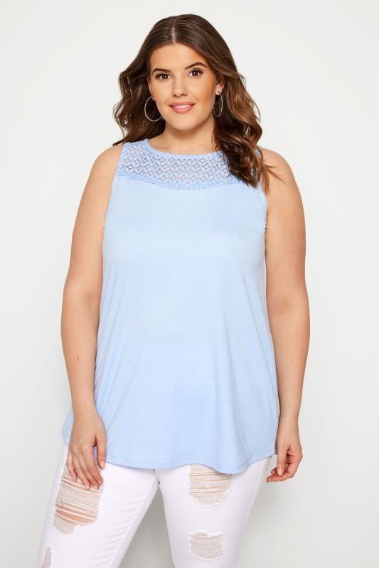 Light Blue Lace Vest