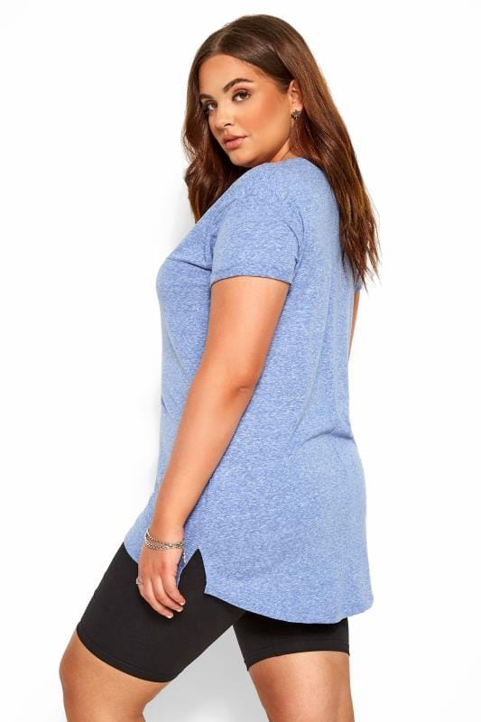 Light Blue Marl Pocket T-Shirt
