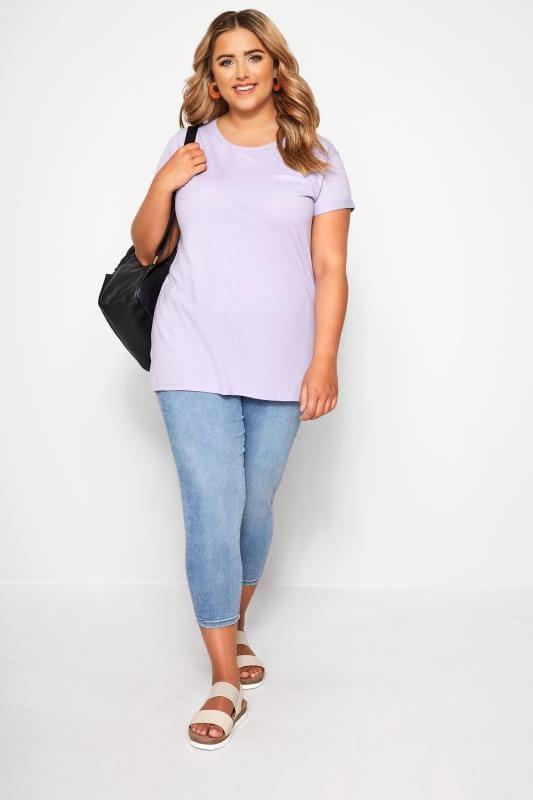 Lilac Mock Pocket T-Shirt