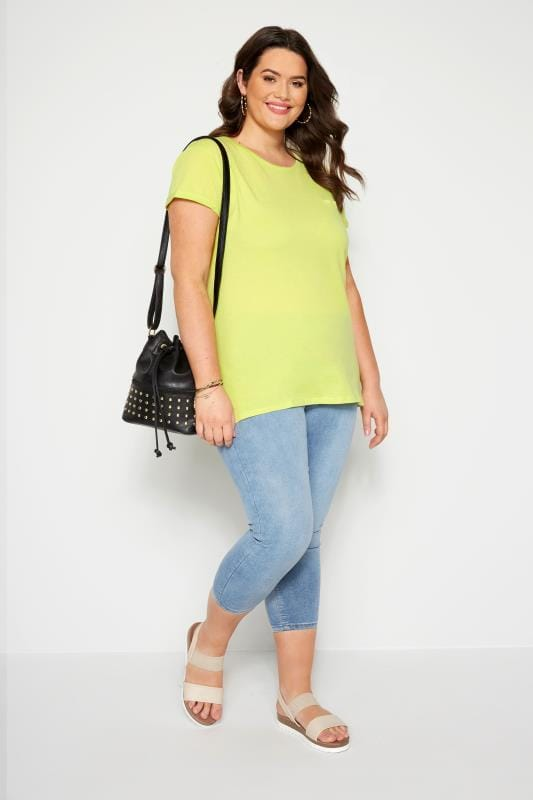 Lime Green Mock Pocket T-Shirt