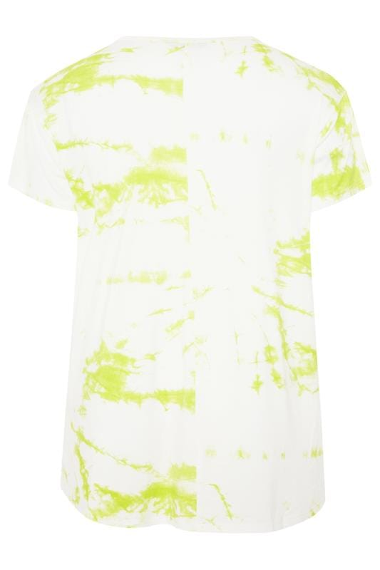 LIMITED COLLECTION Lime Green Tie Dye T-Shirt