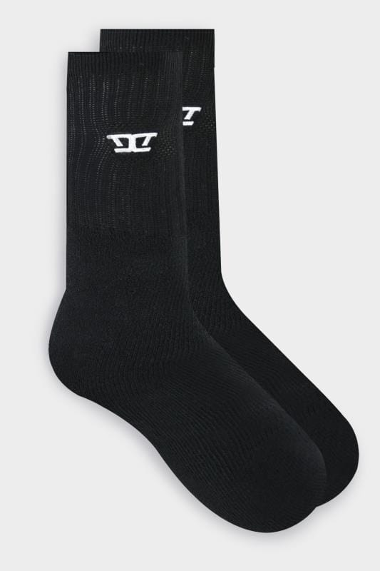 D555 2 PACK Black Socks
