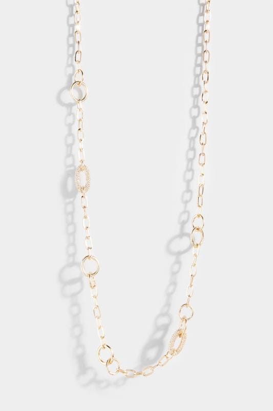 sieraden Gold Long Chain Link Necklace
