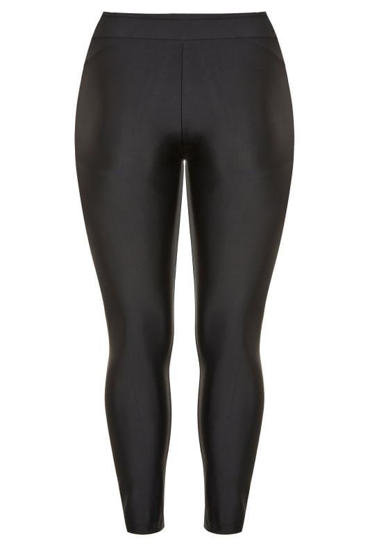 Black Long Swim Leggings