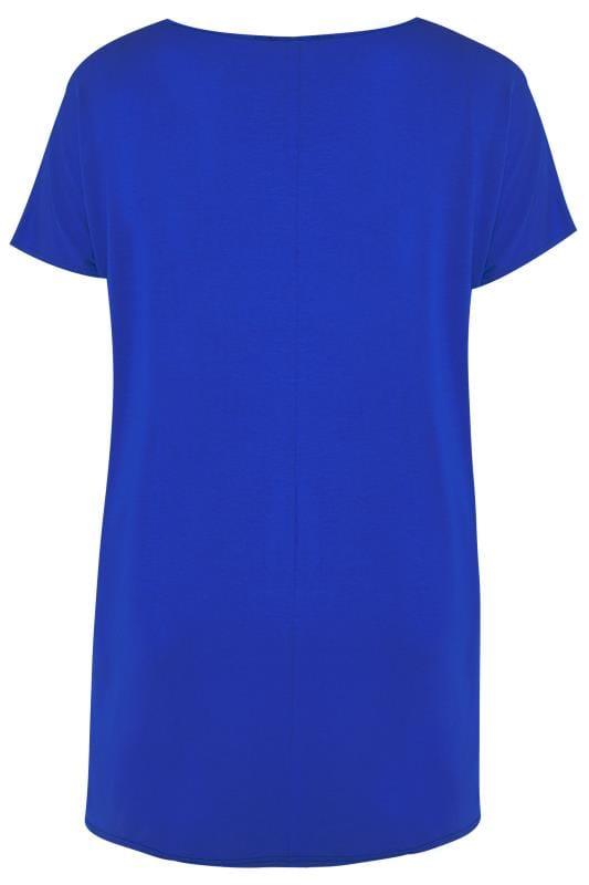 Cobalt Blue 'Love' Slogan T-Shirt
