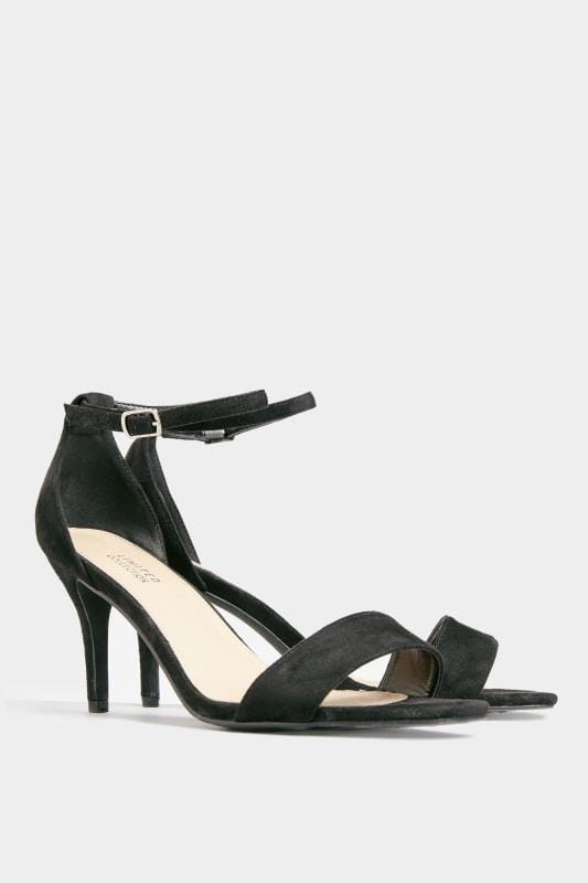 LIMITED COLLECTION Black Strappy Heels In Extra Wide Fit