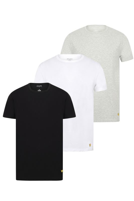 Beauty dla puszystych LYLE & SCOTT Multi 3 PACK Maxwell Lounge T-Shirts