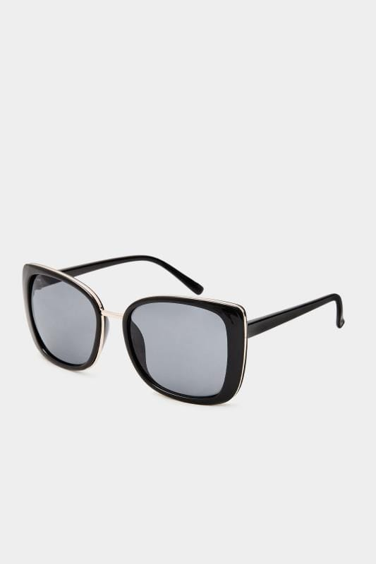 Sunglasses Black Chunky Oversized Sunglasses
