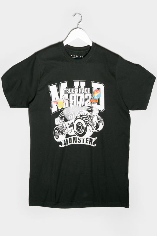 Men's Beauty BadRhino Black Monster Truck Graphic Print T-Shirt