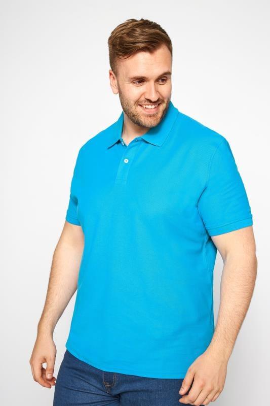 MONTEGO Bright Blue Polo Shirt