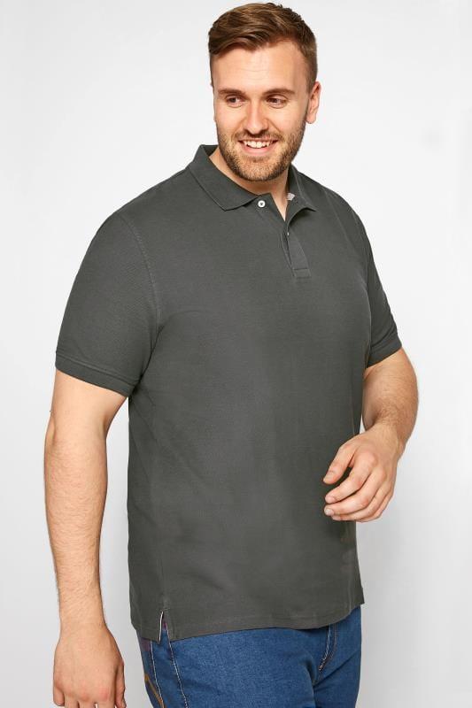 MONTEGO Charcoal Grey Polo Shirt