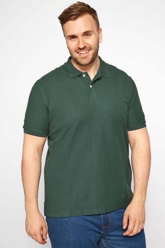 MONTEGO Dark Green Polo Shirt