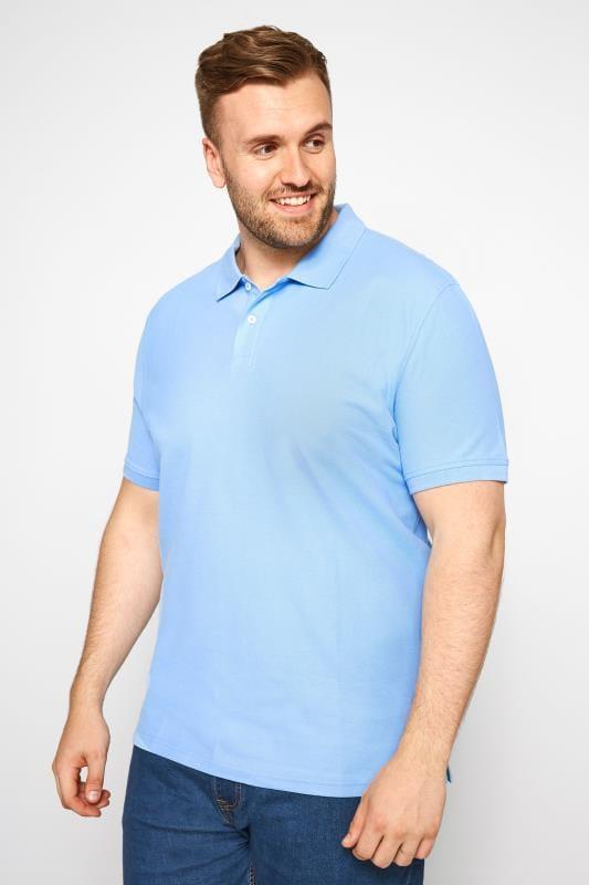 MONTEGO Light Blue Polo Shirt
