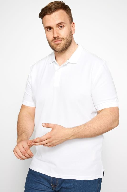 MONTEGO White Polo Shirt