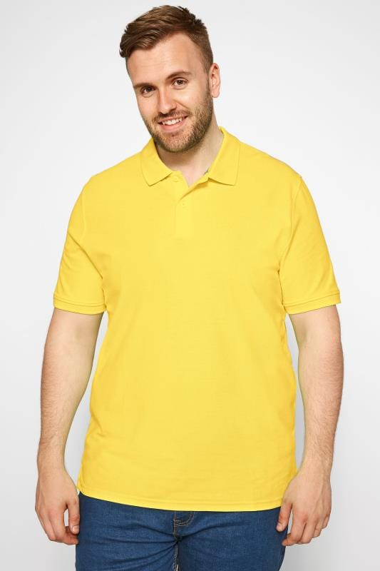 MONTEGO Yellow Polo Shirt