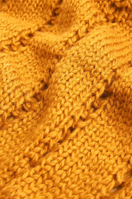 Mustard Knitted Scarf