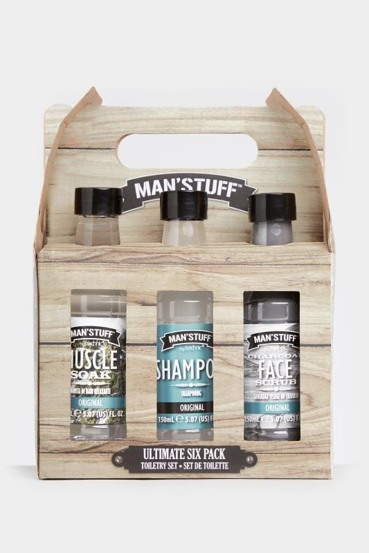Plus-Größen Casual / Every Day MAN'STUFF 'Ultimate Six Pack' Toiletry Set