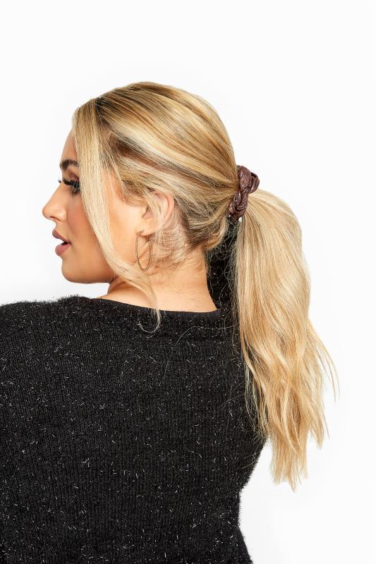 Plus Size Hair Accessories Pink Metallic Scrunchie