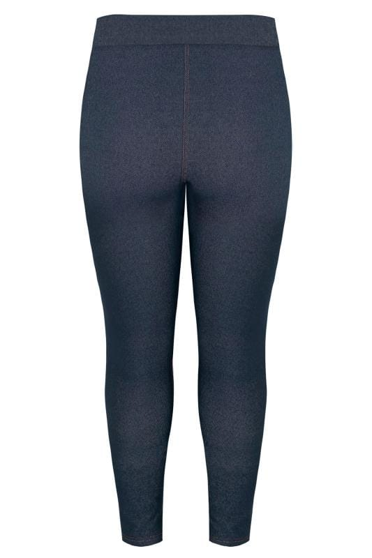 Mid Blue Jersey Jeggings