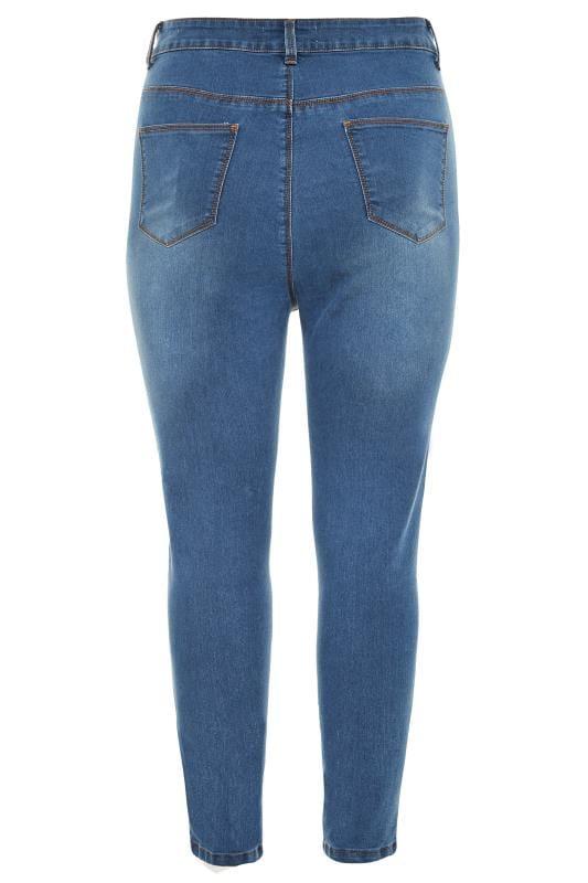 Mid Blue Super High Rise KIM Skinny Jeans