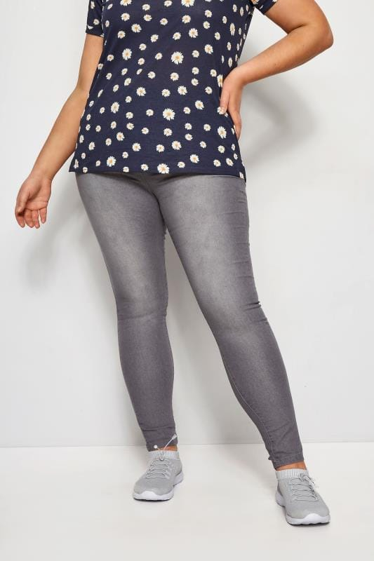 Mid Grey Skinny Jeans