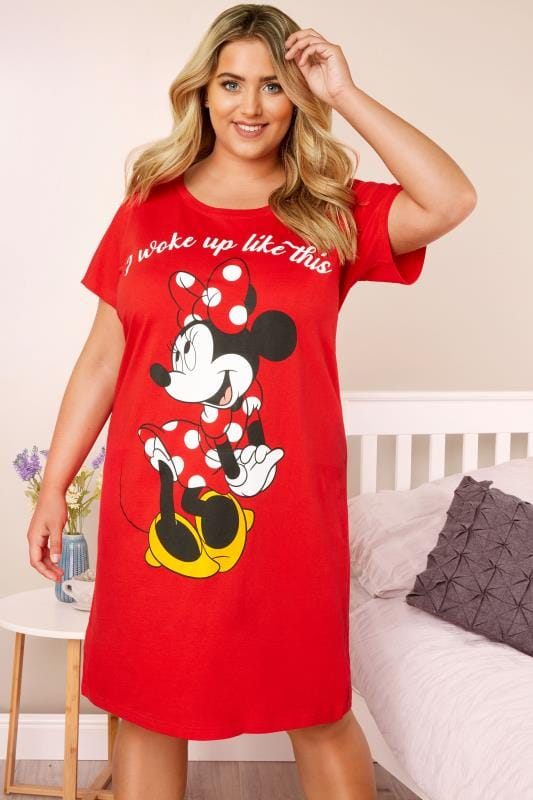 Plus Size Nightdresses & Chemises Red Minnie Nightdress