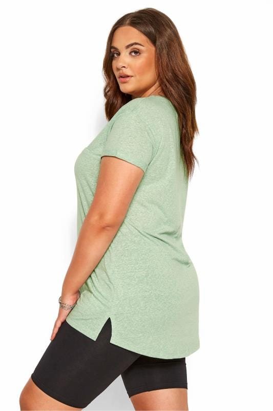 Mint Green Marl Pocket T-Shirt