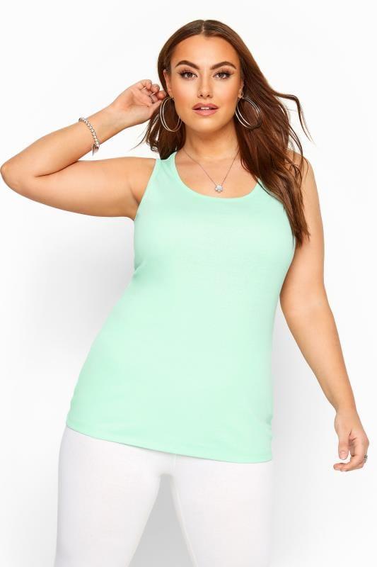 Plus Size Vests & Camis Mint Green Vest Top