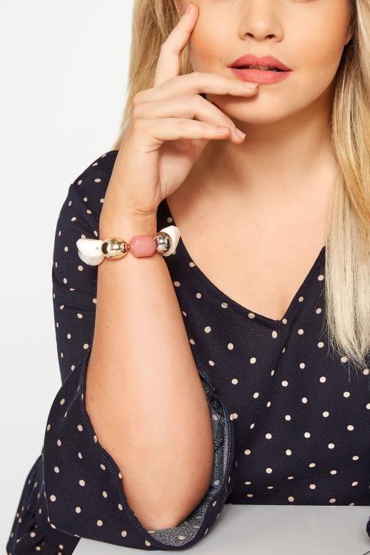 Plus Size Jewellery Mixed Bead Bracelet