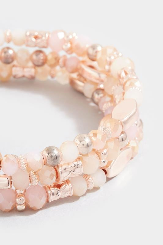 Pink Mixed Stone Bracelet