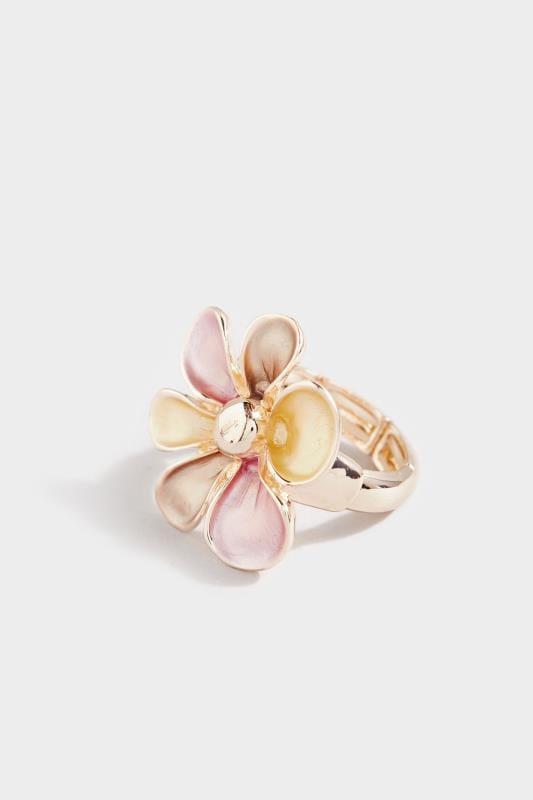 Rose Gold Flower Stretch Ring