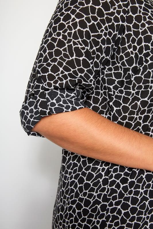 Bluse im Giraffen-Muster - Schwarz