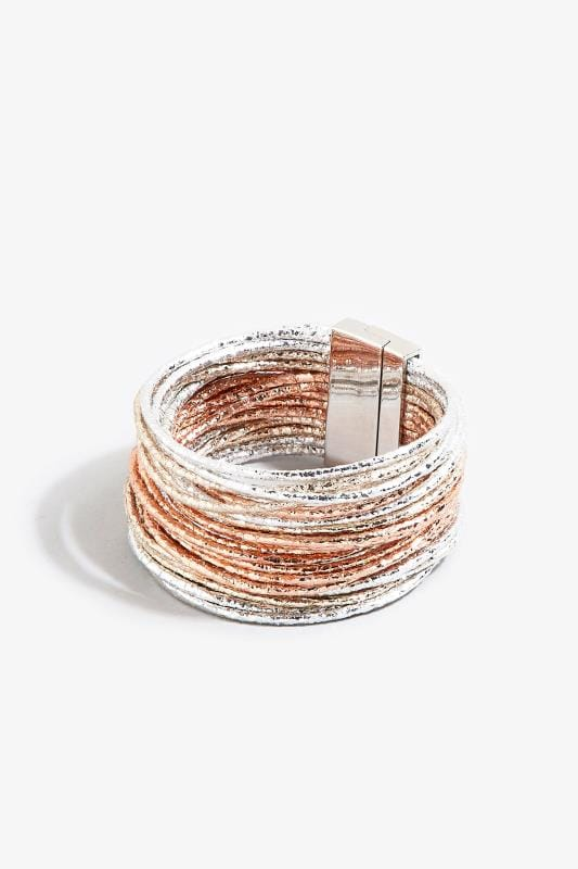 Multi Metallic Cord Bracelet