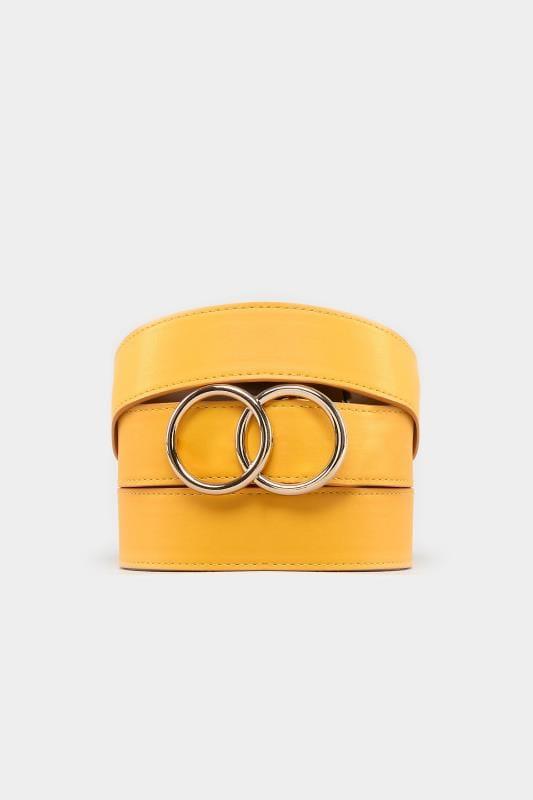 Mustard Double Circle Belt