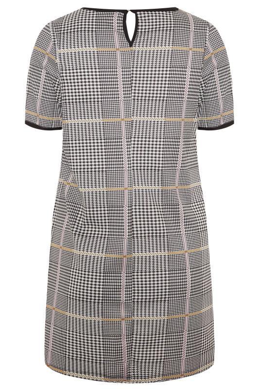 Mustard and Pink Dogtooth Check Tunic