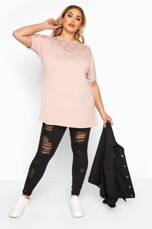 LIMITED COLLECTION Pink Lace Insert Top