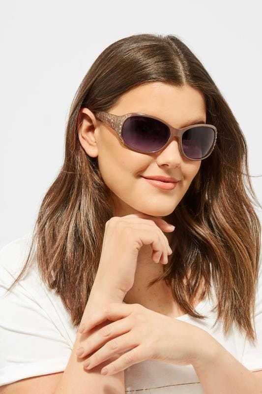 Plus Size Sunglasses Natural Filigree Sunglasses