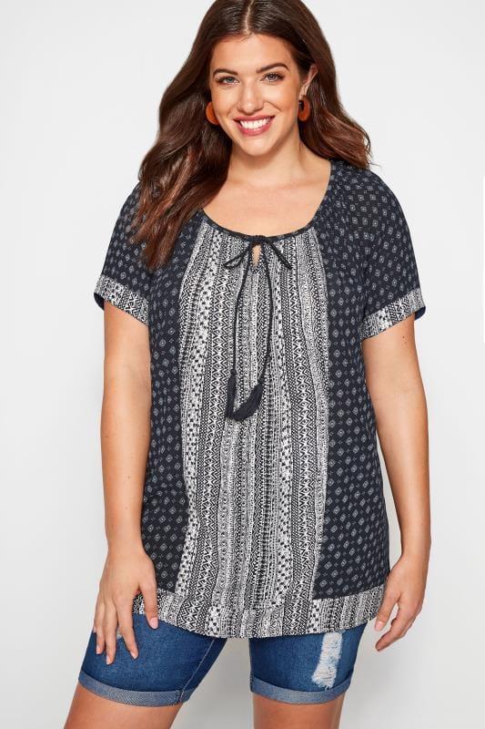 verschiedenes Design Detaillierung heiß seeling original Hippie Bluse große Größen | Yours Clothing