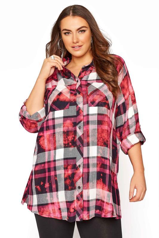 Pink Check Oversized Shirt_9268.jpg