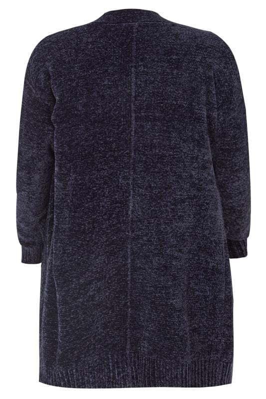 Navy Chenille Cardigan, plus size 16 to 36 | Yours Clothing