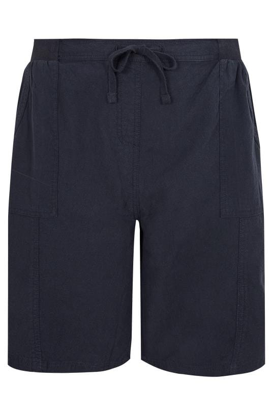 Navy Cool Cotton Pull On Shorts