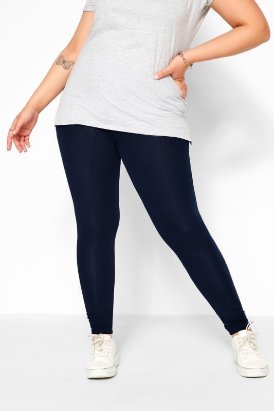 Navy Cotton Essential Leggings