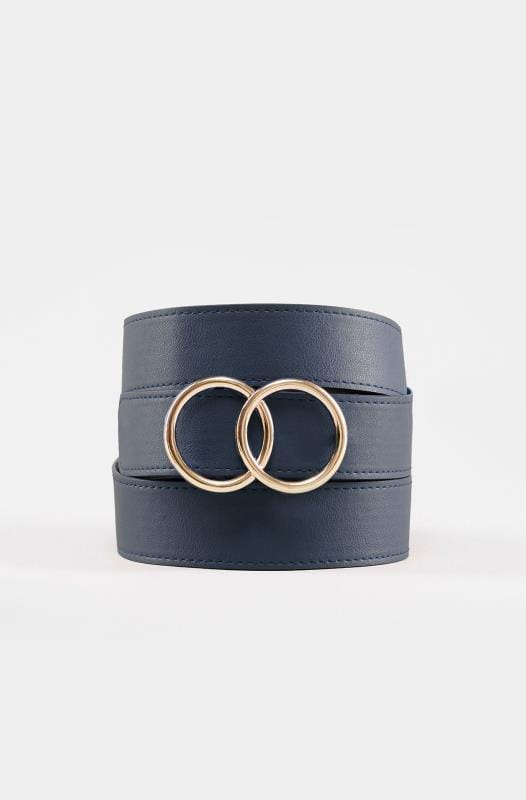 Navy Double Circle Belt