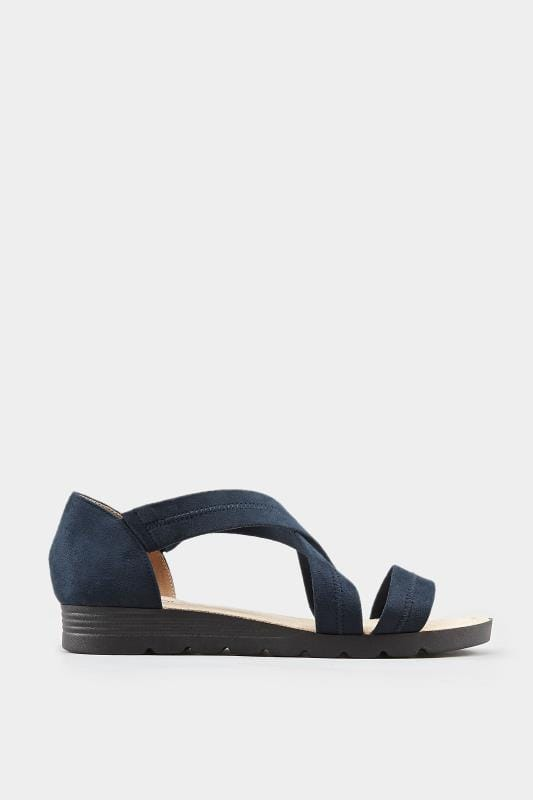 Navy Closed Back Cross Over Sandals In Extra Wide Fit_477d.jpg