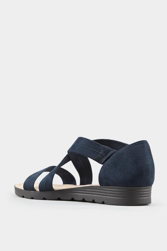 Sandalen met gekruiste bandjes in donkerblauw