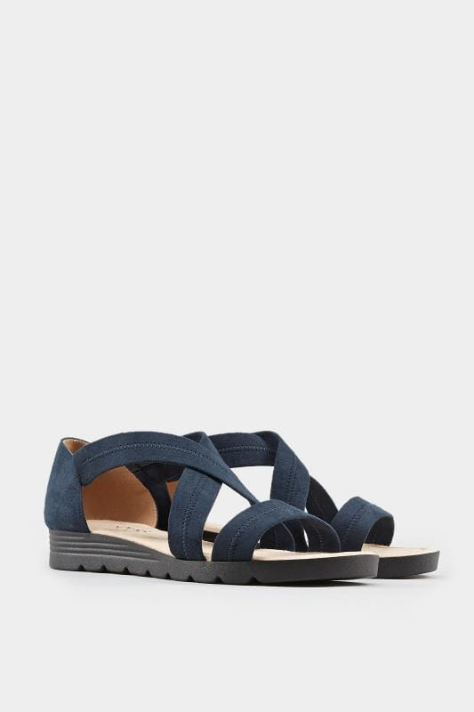 Navy Closed Back Cross Over Sandals In Extra Wide Fit_6cbf.jpg