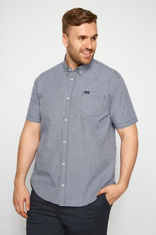 BadRhino Navy Gingham Short Sleeve Shirt